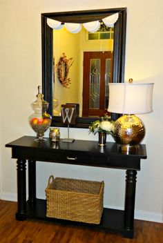 Entryway Table With Baskets 25 ways to decorate a console table | console tables, book storage