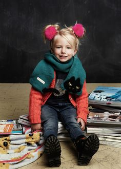 An great pose and props idea for a back to school photo. Courtesy of Milk & Soda_AW13. #kids #backtoschool #togally