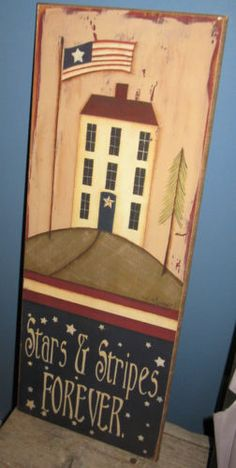 americana wall decor - I have this on the door of my corner kitchen cupboard!!!!