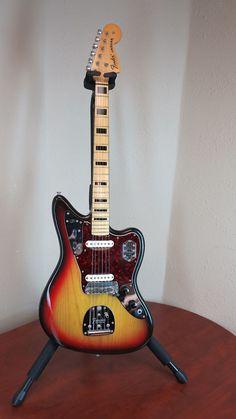 Fender Jaguar 1973 with rare maple cap bound neck