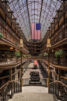 The Cleveland Arcade - another gorgeous building.