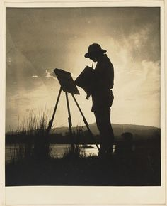Woman painting at easel from Camping trips on Culburra Beach by Max Dupain and Olive Cotton Fine Art Photo, Photo Art, Abstract Photography, Amazing Photography, Female Photographers, Woman Painting, Vintage Vibes, Photos Of Women, Old Pictures