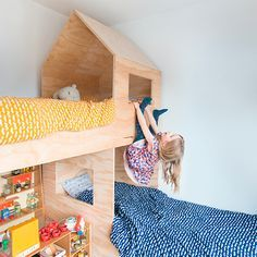 Kids room - Plywood house bed -