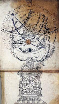 speciesbarocus:      Astronomical clock and armillary sphere(c. 1600).