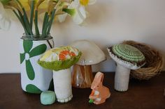spring nature table by salt and chocolate, via Flickr