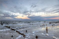 UtArt - Winterlicher Sonnenuntergang am Meer