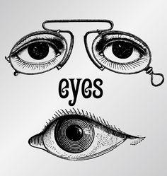 Vintage eye graphics