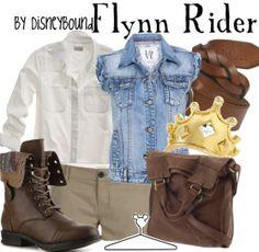 Flynn Rider by Disneybound Nerd Fashion, Fandom Fashion, Cute Fashion, Flynn Rider, Disney Inspired Fashion, Disney Fashion, Estilo Disney, Disney Bound Outfits, Disneyland Outfits