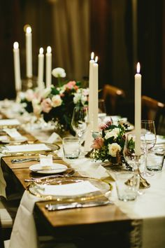 Rustic table decor: http://www.stylemepretty.com/canada-weddings/british-columbia/whistler/2016/11/23/cozy-rustic-lodge-wedding/ Photography: Lucida - http://lucida-photography.com/