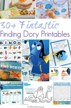 Download30+ free Finding Dory printables.