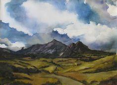 Alfred Ng Bear Mountain Colorado Painting  - Bear Mountain Colorado Fine Art Print