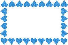 Blue heart border