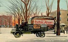 Portland ME Nissen's Bakery Special Bread Truck at Lincoln Park Postcard Print