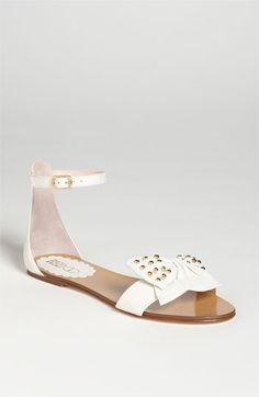 192db553167 RED Valentino Flat Sandal Pretty Sandals