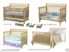 NEW Youngoz Vinci 4in1 Baby COT Toddler BED Daybed Double BED | eBay