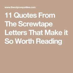 11 quotes from the screwtape letters that make it so worth reading