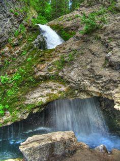 Doughnut Falls, in Big Cottonwood Canyon, Wasatch Mountains, UTAH