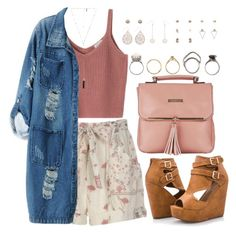 """""""1094."""" by adc421 ❤ liked on Polyvore featuring Ashley Stewart, Chicnova Fashion, Natalie B, Iosselliani, Topshop and Fiorelli"""