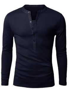 Long Sleeve Button Collar Tee