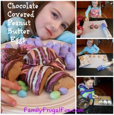 DIY Chocolate Covered Peanut Butter Easter Eggs. Use my bunny mold