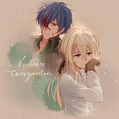 Violet Evergarden and Gilbert Bougainvillea.  I think I could've come up with that!! Lol. :D