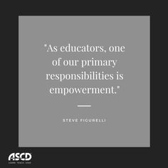 In this blog post, ASCD EDge community member Steve Figurelli explains the importance of empowering students to take charge of their learning, to ask questions and investigate phenomena, and to change the world.