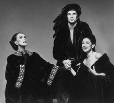 Martha Graham, Rudolph Nureyev and Margot Fonteyn, 1976, Blackgama