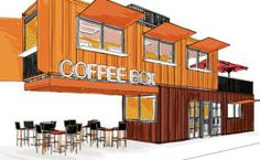 An artist's rendition of what the completed coffee shop will look like.