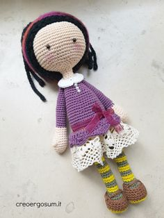 Amigurumi art doll for girl baby shower crochet doll present