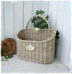 """Купить """"Цветущий сад"""" Корзинка плетеная - корзина плетеная, корзинка с ручкой, корзинка для мелочей, для журналов"""
