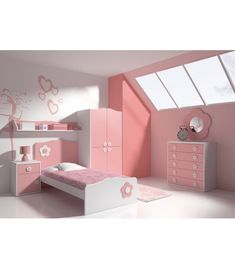 Decorating a girl's bedroom with pink is the right idea for Girls Bedroom Furniture Sets, Modern Kids Bedroom, Baby Room Furniture, Kids Bedroom Designs, Room Ideas Bedroom, Kids Room Design, Sofa Bed Design, Bedroom Bed Design, Teen Room Decor