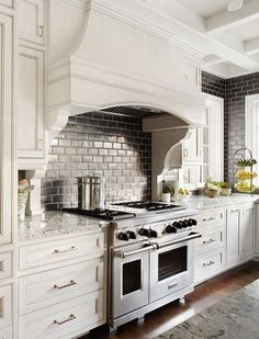 Custom Range Hood In White Kitchen  Mahshie Custom Homes  Cool Inspiration Kitchen Vent Hood Design Ideas