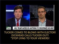 """Tucker Comes To Blows With A Liberal Elector! The Guy Calls Tucker Out """"..."""