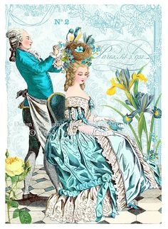 Marie Antoinette gets a do (image courtesy of Debbie Orcutt board)