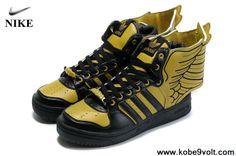 2013 Adidas X Jeremy Scott Wings 2.0 Shoes Yellow Black Basketball Shoes Store