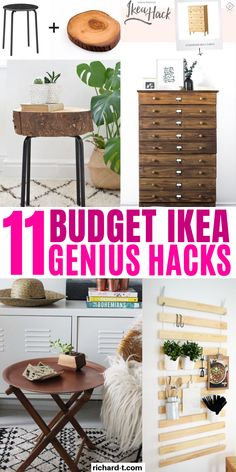 11 Cheap and genius Ikea hacks that you simply cannot live without! Make your home look fancy with these GENIUS Ikea hacks! And all within a small budget! Kitchen Island Hack, Ikea Kitchen Cart, Ikea Bar Cart, Cheap Kitchen Cabinets, Ikea Cabinets, Ikea Hacks, Organizing Hacks, Hacks Diy, Home Hacks