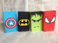 super hero party bags set of 12 Source by Setssuper hero party favors. super hero party bags set of 12 Source by Sets Superhero Party Favors, Superhero Birthday Party, 4th Birthday Parties, Hulk Birthday, Avengers Birthday, Boy Birthday, Hippie Birthday, Hulk Party, Birthday Cards For Her