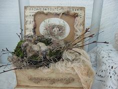 Nest in old jewelry box