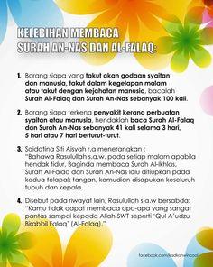 Kelebihan membaca surah An-Nas & Al-Falaq.