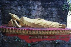 Reclining Buddha on Mt Phou Si