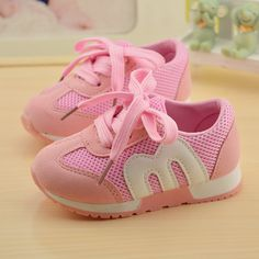 T 2016 Autumn kids Sneakers Children Shoes Boys Sports Casual Shoes Fashion Girls Breathable Lacing Mesh Shoes Pink Blue Toddler Boy Shoes, Baby Girl Shoes, Kid Shoes, Girls Shoes, Baby Girls, Kids Sandals, Girls Sneakers, Casual Sneakers, Kids Boots