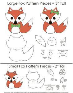 Felt Animal Patterns, Stuffed Animal Patterns, Stuffed Animals, Softie Pattern, Fox Pattern, Felt Crafts, Paper Crafts, Fuchs Illustration, Sewing Crafts
