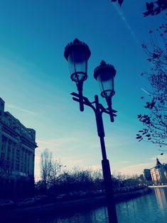 Light post in Bucharest
