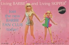 Living Barbie and Skipper from the Barbie Catalog, 1970.  Had lots of these outfits and dolls.