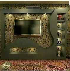 Home Decor: 20 Wonderful places for TV wall mount Lcd Wall Design, House Ceiling Design, Ceiling Design Living Room, House Front Design, Roof Design, Tv Unit Interior Design, Tv Unit Furniture Design, Tv Unit Decor, Tv Wall Decor