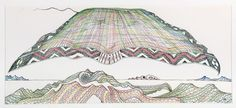 John Bevan Ford, Te Hono (The Connections) - Auckland Art Gallery Auckland Art Gallery, New Zealand Art, Nz Art, Maori Art, Castle In The Sky, Landscape Artwork, Graphic Patterns, Medium Art, Art Inspo