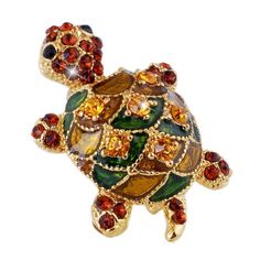 This little turtle pin is crafted with rhinestones and is oh so shimmery and cute. 22*32mm