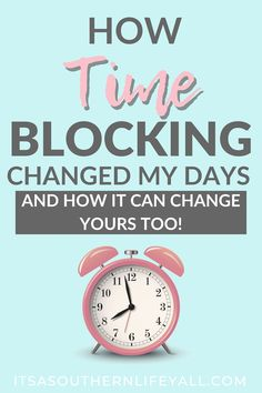 How to be highly productive every single day by using time blocking. Time blocking is the secret to managing my time every day and being more productive. When your time is organized, you are able to accomplish more and remain stress-fre Time Management Tools, Time Management Strategies, Project Management, Classroom Management, Stephen Covey, How To Stop Procrastinating, Self Development, Personal Development, Getting Things Done