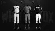 MLB Jerseys Redesigned on Behance Mlb Uniforms, Baseball Uniforms, Mlb Teams, Chicago White Sox, Adidas Jacket, Socks, Behance, Baseball Stuff, Jackets