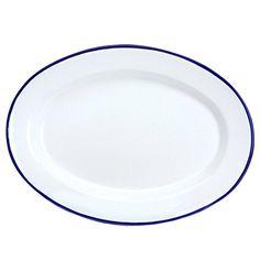 Enamelware Oval Plate $14